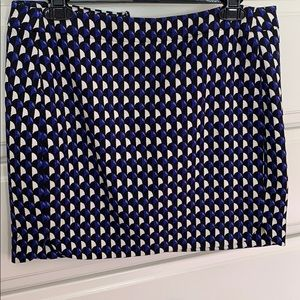 Jcrew black, white, purple mini skirt